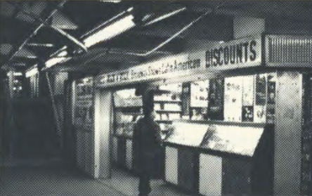<p>The Times Square Record Mart in New York's Times Square/42nd Street station in the late 1990s. Photo by Eric Fichtl</p>