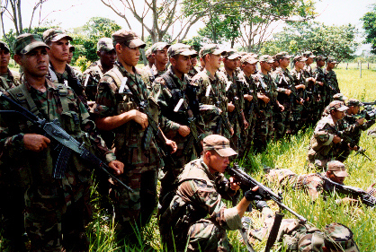Witnesses say that soldiers from the Colombian Army's Navos Pardos Battalion disguised themselves as AUC paramilitaries before committing atrocities at the Betoyes indigenous reserve. Photo: Eric Fichtl