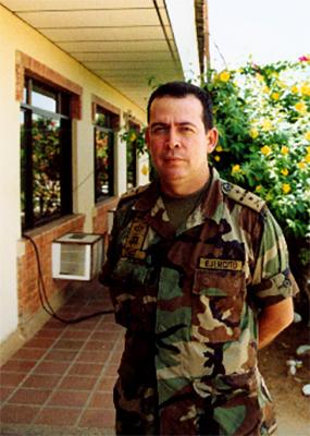 Colonel Cruz, Commander of the Army's 5th Mobile Brigade. Photo: Eric Fichtl