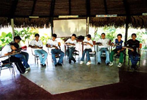 Students at the Hogar Juvenil, Tame. Photo: Eric Fichtl