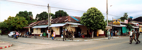 Tame street corner