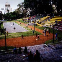 <p>Porteños relaxing in Parque Lezama.</p>