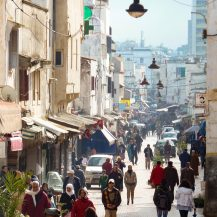 <p>A bustling street in Rabat. </p>