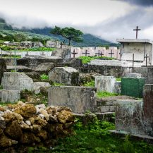 <p>Weathered graves in Timor-Leste's central highlands.</p>