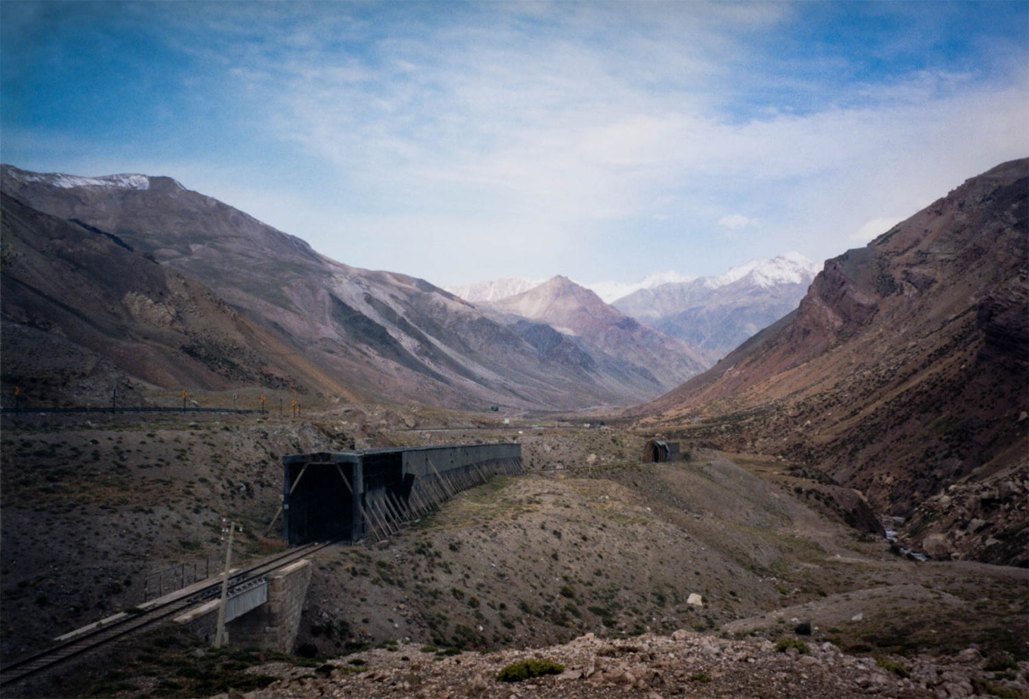 <p>A view of the Uspallata Pass, high in the Andes. <br /></p>
