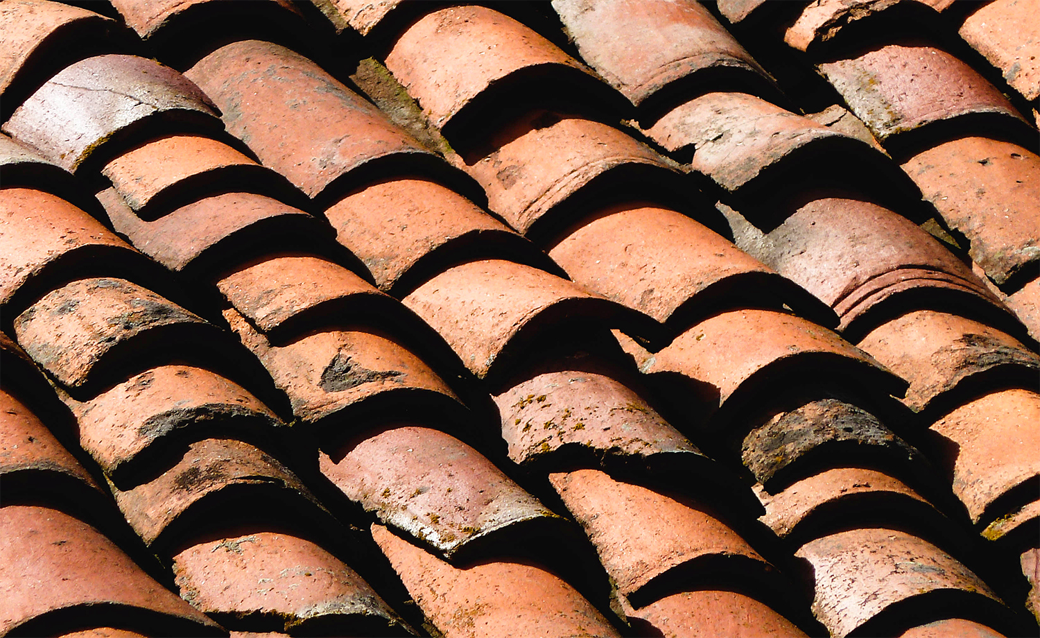 <p>Clay roof tiles on a farm house that likely date from the Ottoman period. They've seen many scorching summers and freezing winters.<br /></p>
