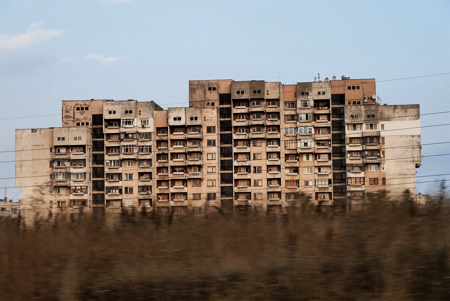 <p>The transition from farm fields to high-rise blocks is sudden on some approaches to Sofia.</p>