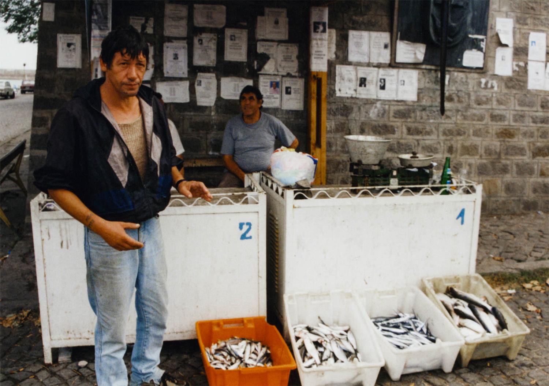<p>Fishermen sell their catch near the port in Sozopol, Bulgaria.</p>