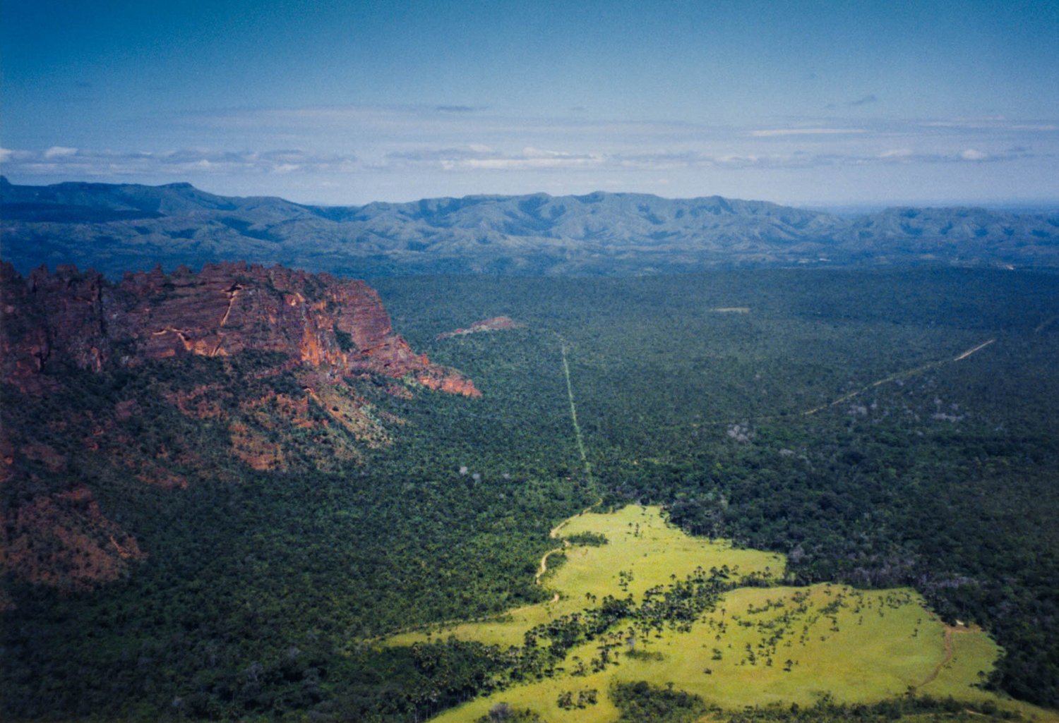 <p>A breathtaking panorama from a clifftop in the Chapada dos Guimarães National Park, in western Brazil.</p>