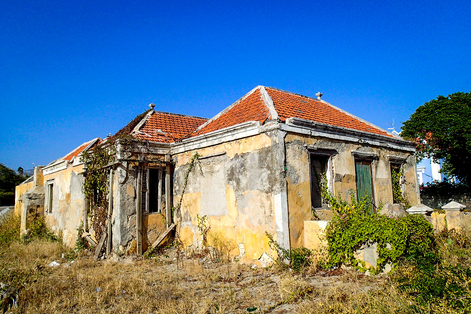 <p>A gracefully dilapidated house still shows its charms.</p>