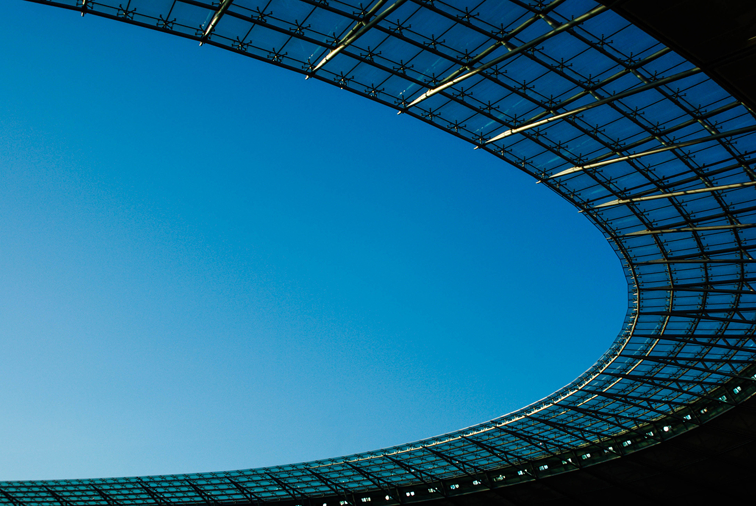 <p>Berlin's Olympic Stadium was roofless when it hosted the 1936 Games, but during renovations in 2004 a seemingly floating roof was added to cover all 74,475 seats in the stadium (which, despite its age, still has Germany's highest all-seater capacity). The roof conceals clever lighting that creates no discernible shadows on the pitch.</p>