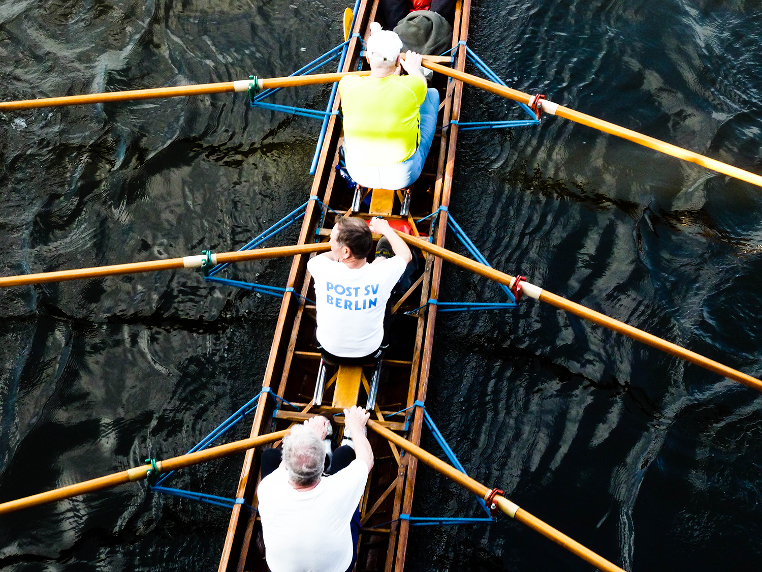 <p>Rowers power through the waters of Köpenick.<br /></p>
