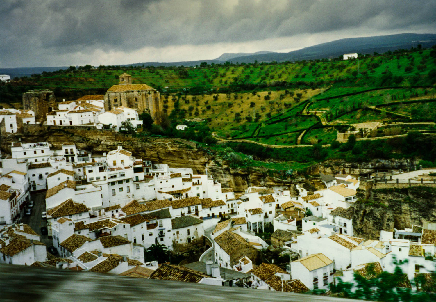 <p>A view over Setenil de las Bodegas, one of Andalusia's white hill towns. <br /></p>
