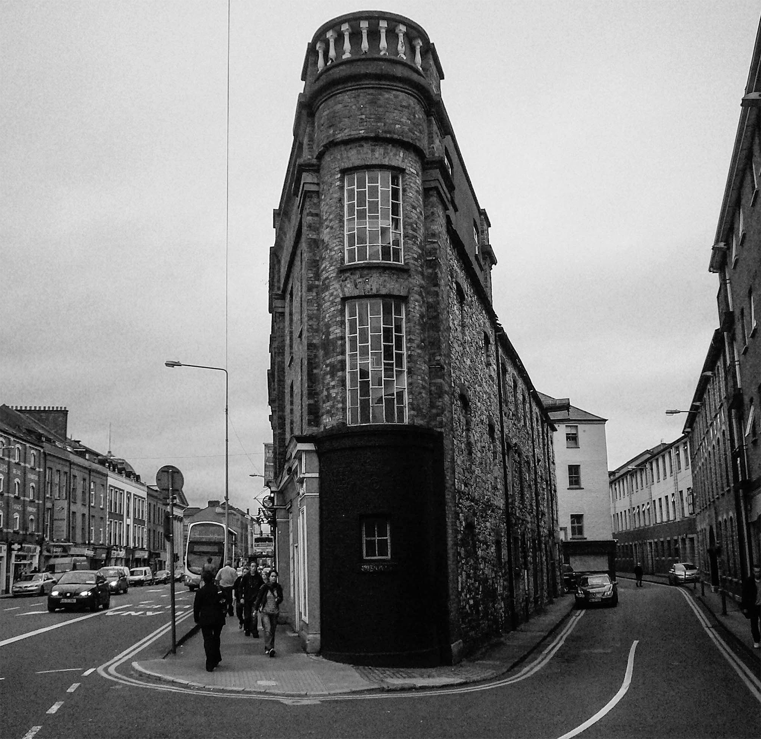 <p>A wedge of a building makes for an interesting corner in Cork.</p>