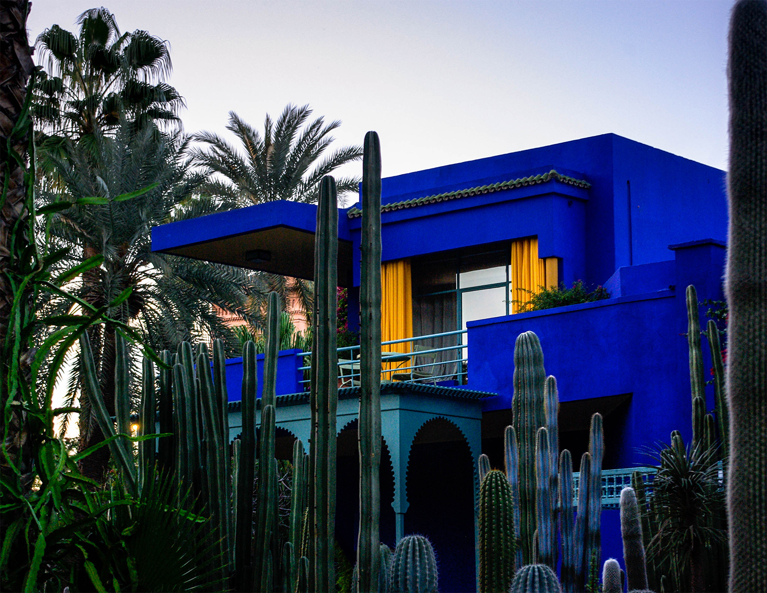 <p>Set in a beautiful walled botanic garden, this stunning house was conceived by the French artist Jacques Majorelle in the 1920s. Architecturally, it is a unique combination of local Moorish touches, art deco flourishes, and more than a little of the (then) new school of Modernism. The distinctive blue colour bears Majorelle's name. </p>