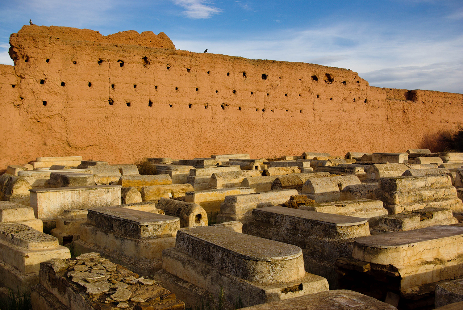 <p>Graves interweave within the constraining walls of Marrakech's Miaara, a Jewish cemetery in the Mellah district (once the Jewish quarter, when the local population was larger).</p>