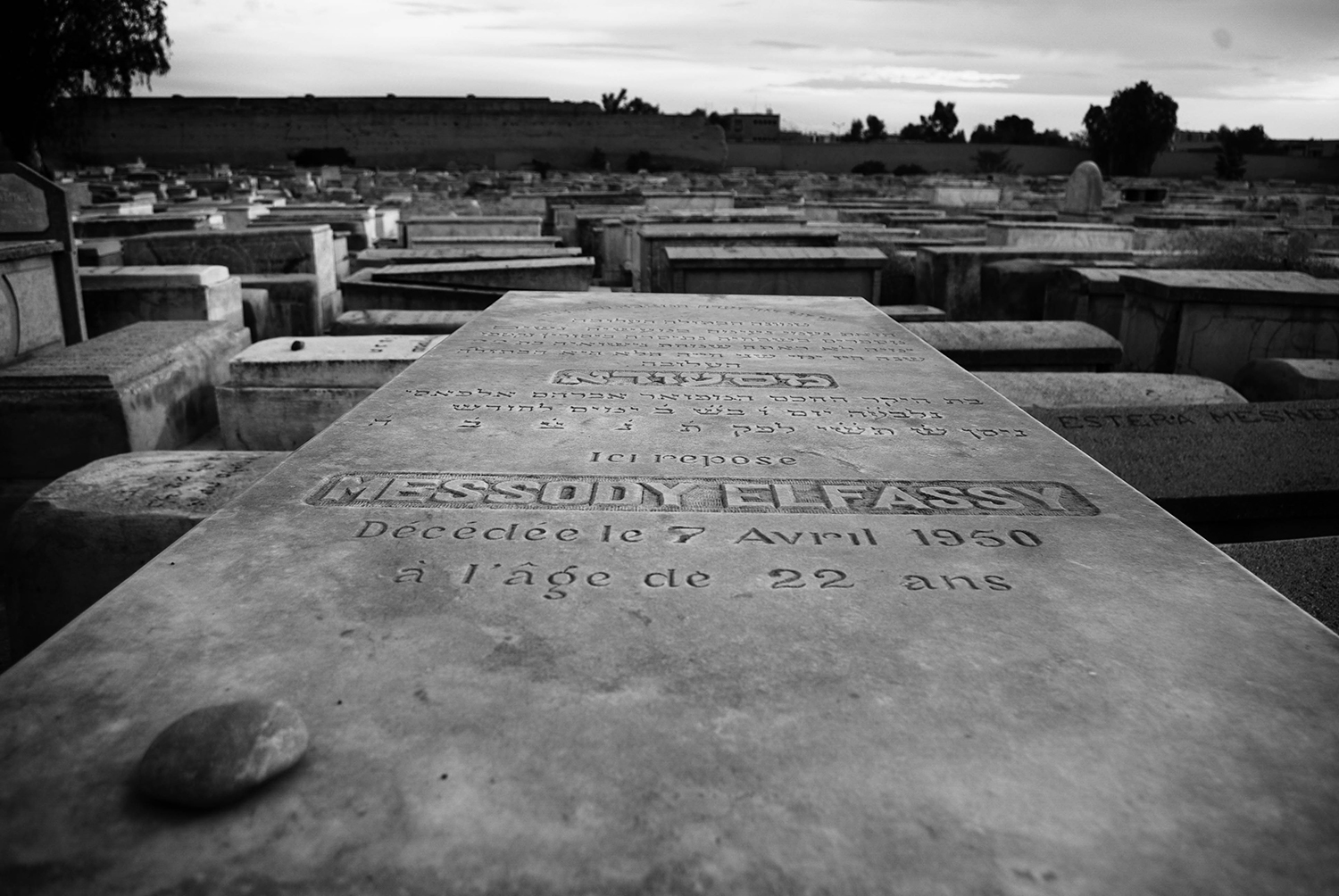 <p>It's a Jewish custom to leave a stone on a tomb as a symbol of mourning and memory. Here, a solitary stone was left on the grave of someone who died too young.<br /></p>