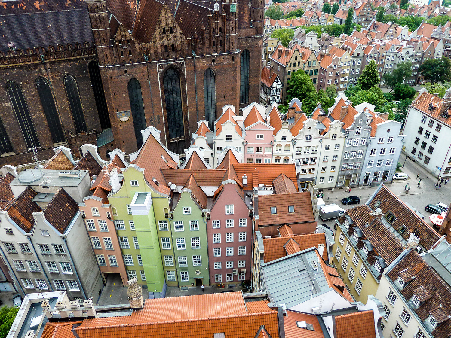 <p>From the perspective of the Town Hall's tower, Gdansk's historic centre almost appears to be made up of toy houses.<br /></p>