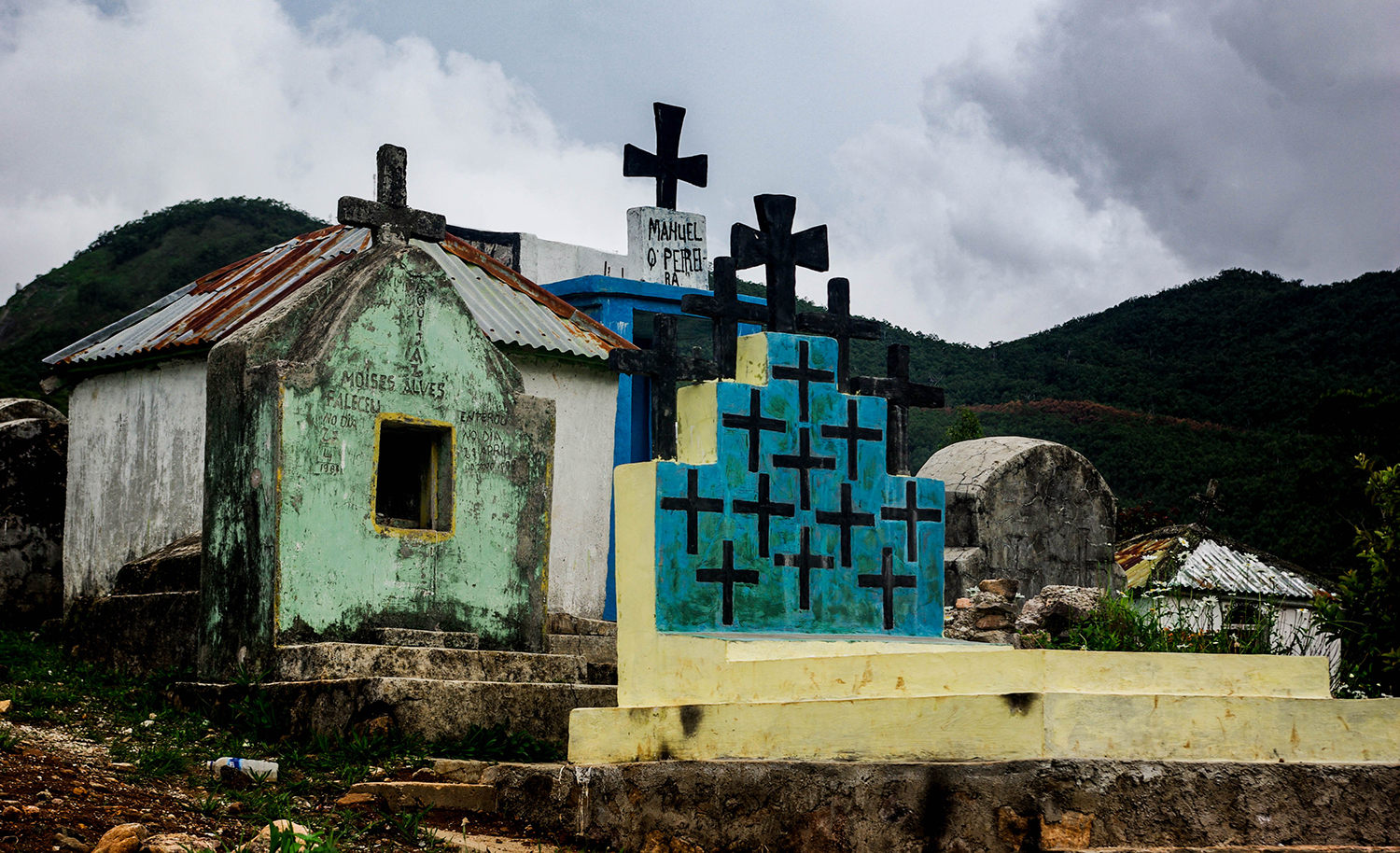 <p>A cemetery in the mountains in Timor-Leste's west. The country's Roman Catholicism is a legacy of centuries of Portuguese colonial rule. </p>